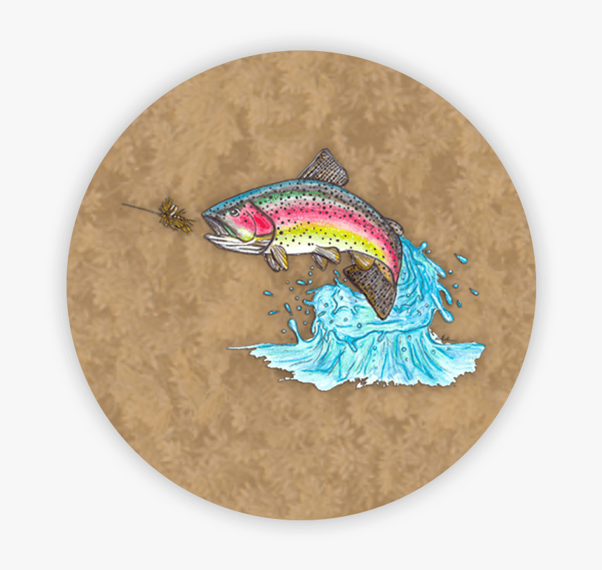 Rainbow Trout Jumping Popsocket - Jumping Rainbow Trout, HD Png Download, Free Download