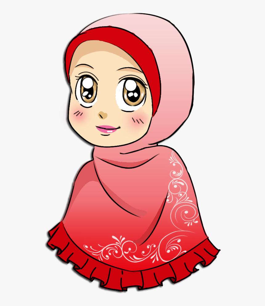 Muslimah Icon Cartoon   Moslem Girl Cartoon Transparent Background ...