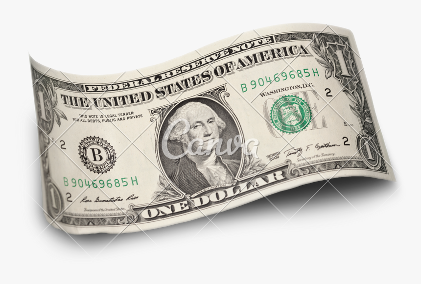 Clip Art One Photos By Canva - Single One Dollar Bill, HD Png Download, Free Download