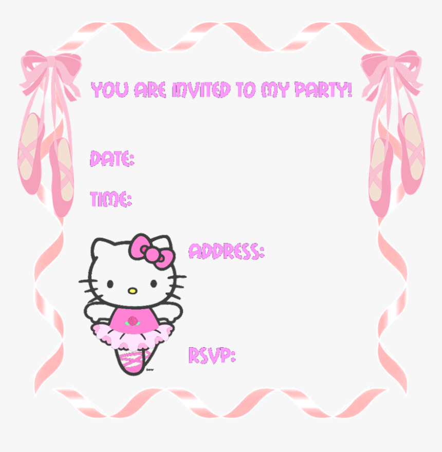 Hello Kitty Party Invitation Templates Hello Kitty