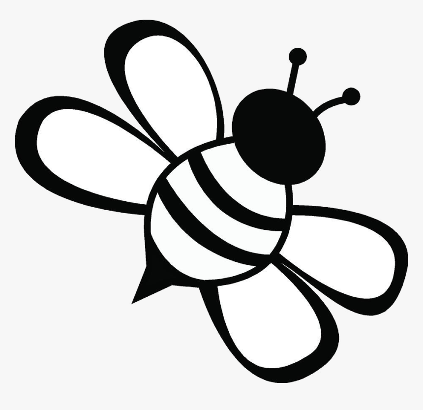Bee Clipart Transparent Png Black And White Bee Clipart Png Download Kindpng