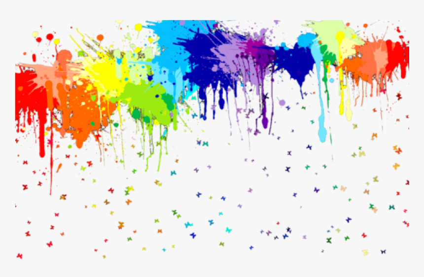 Transparent Neon Glow Png - Transparent Paint Splash Clipart, Png Download, Free Download