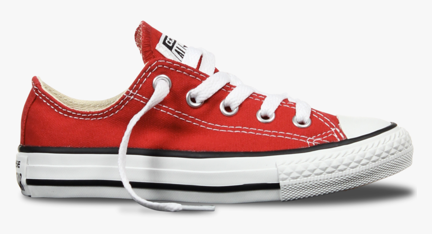 Converse Transparent Red - Red Low Cut Converse, HD Png Download, Free Download