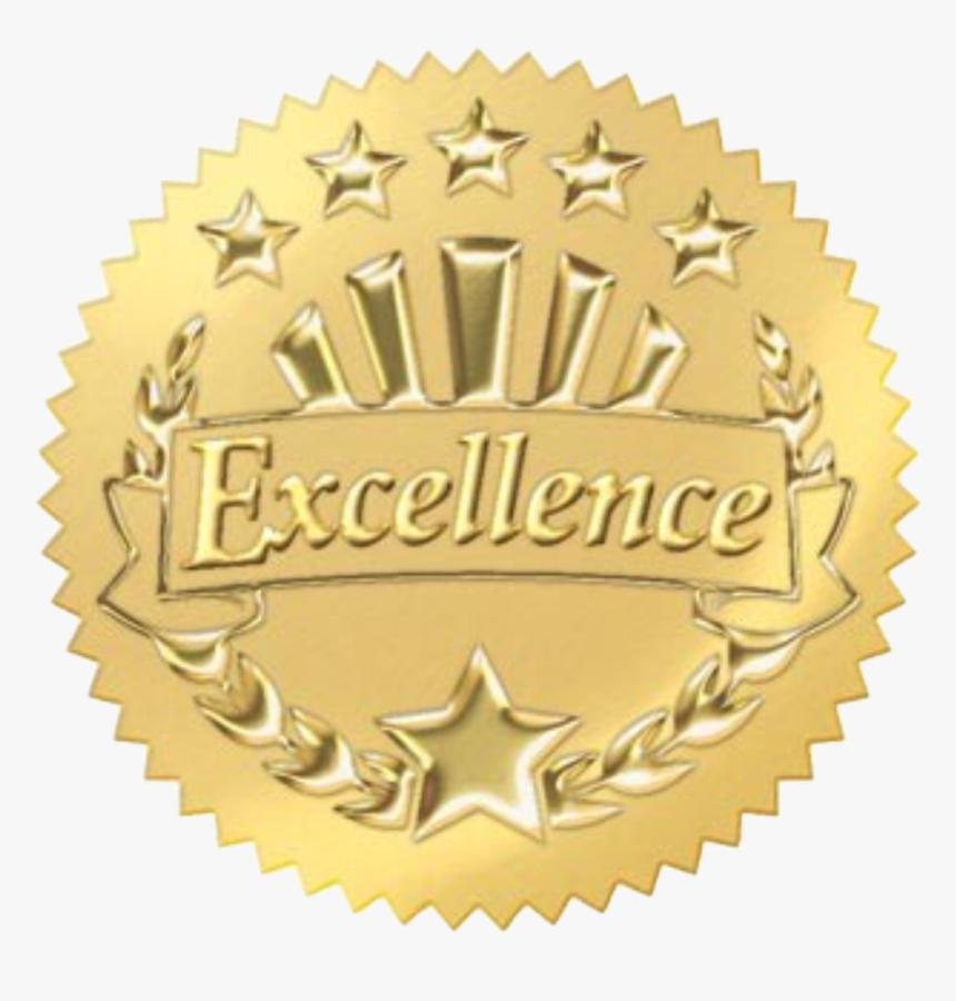 #sticker #gold #metal #reward #awards #seal #stamp - Gold Star For Certificate, HD Png Download, Free Download