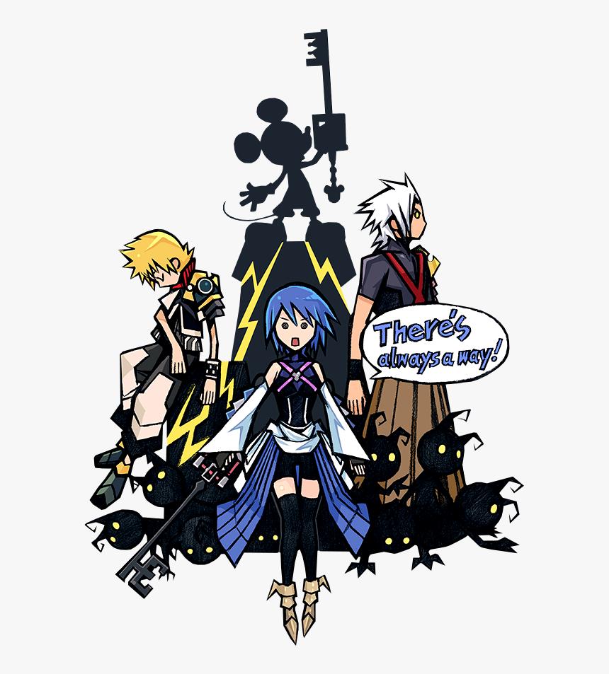 Anime, Nomura Tetsuya, Kingdom Hearts Χ, Kingdom Hearts, - Kingdom Hearts Key Art, HD Png Download, Free Download