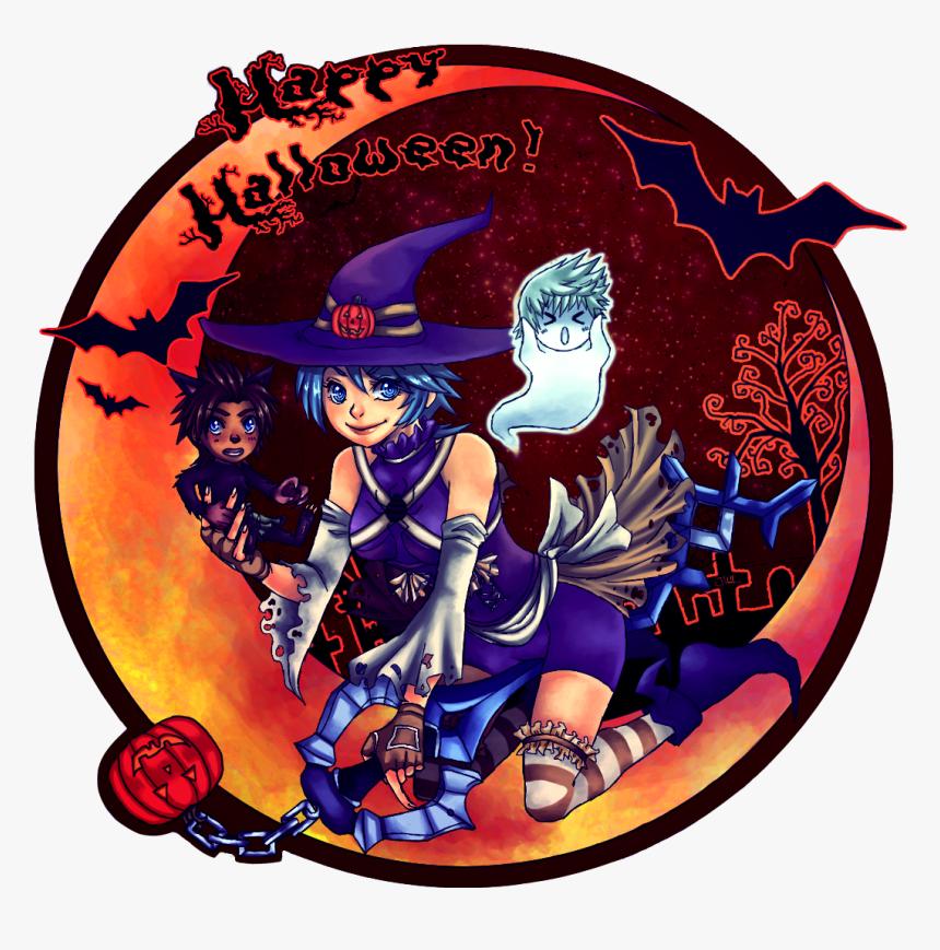 Happy Halloween - Kingdom Hearts Aqua Halloween, HD Png Download, Free Download