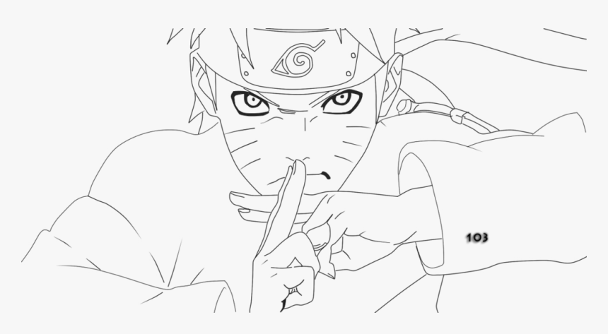 Line Art Anime Naruto , Png Download - Line Art Naruto Png, Transparent Png, Free Download
