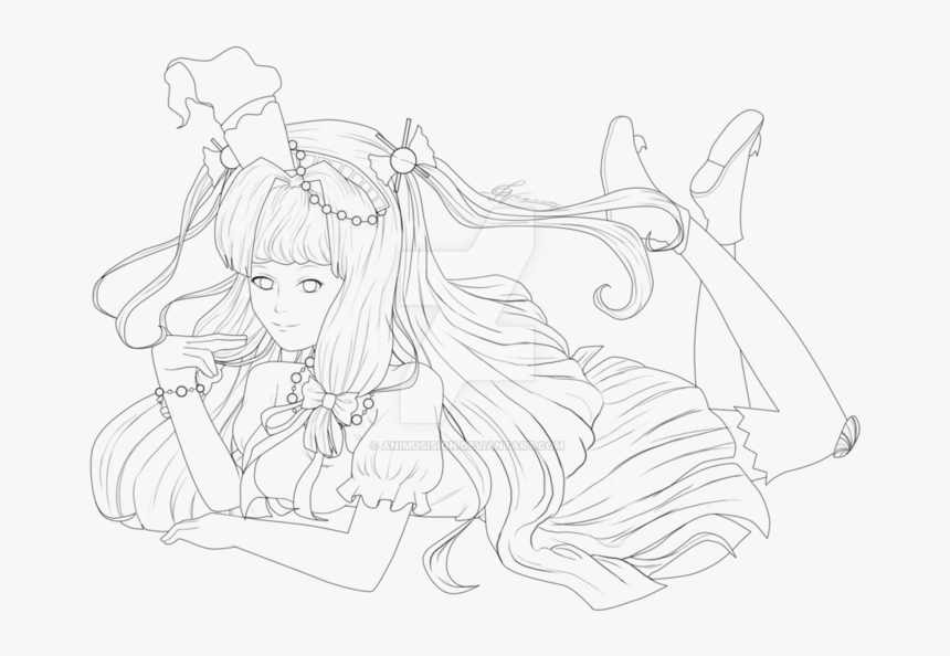 Transparent Anime Lineart Png - Line Art, Png Download, Free Download