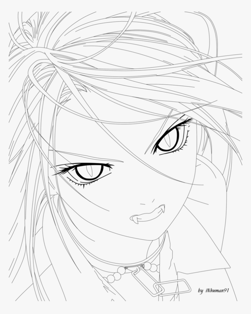 Moka Lineart By Inhuman91 - Line Art, HD Png Download, Free Download