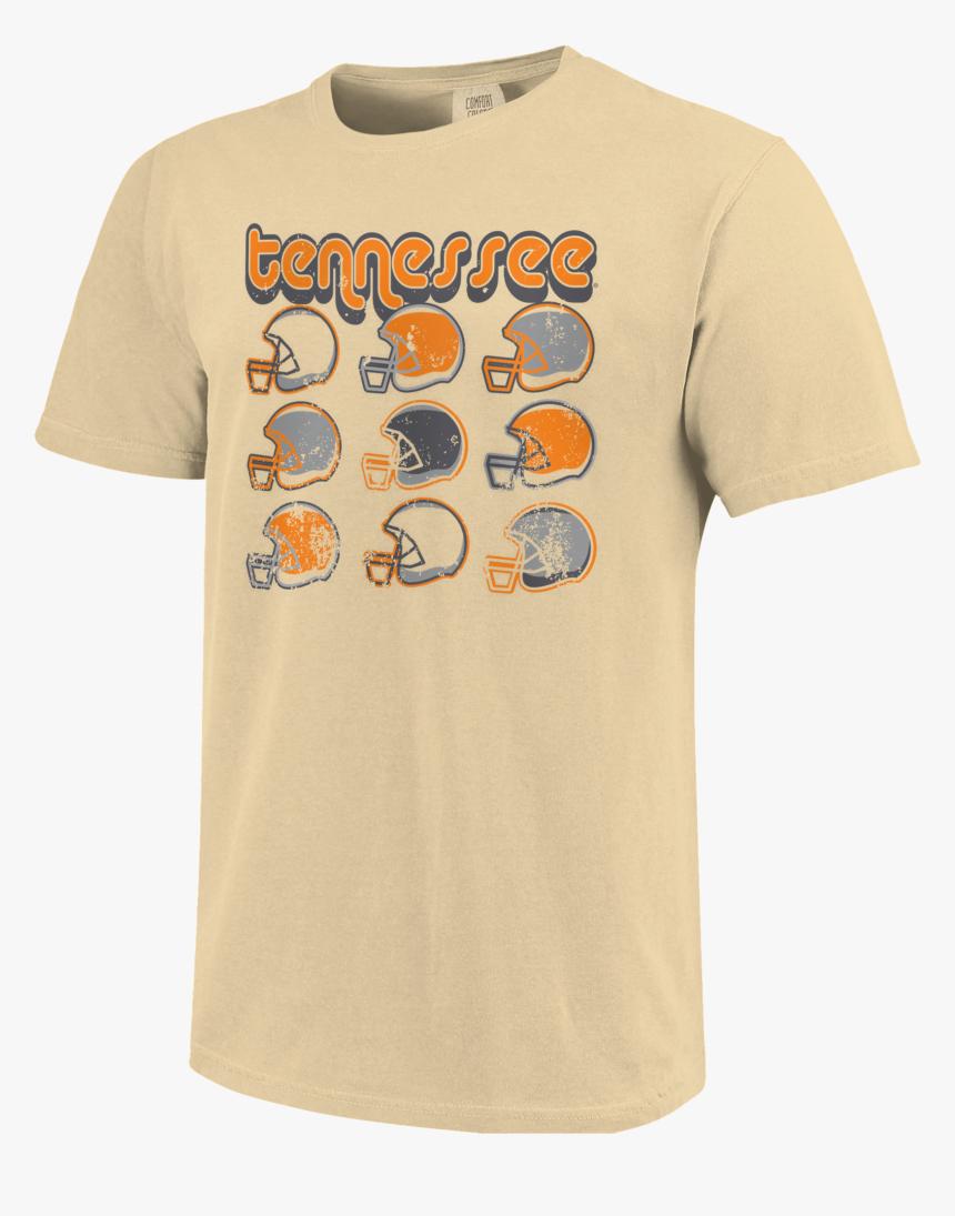 "Ut Retro Helmets Short Sleeve T Shirt""  Class=""lazyload - Khaki Comfort Colors, HD Png Download, Free Download"