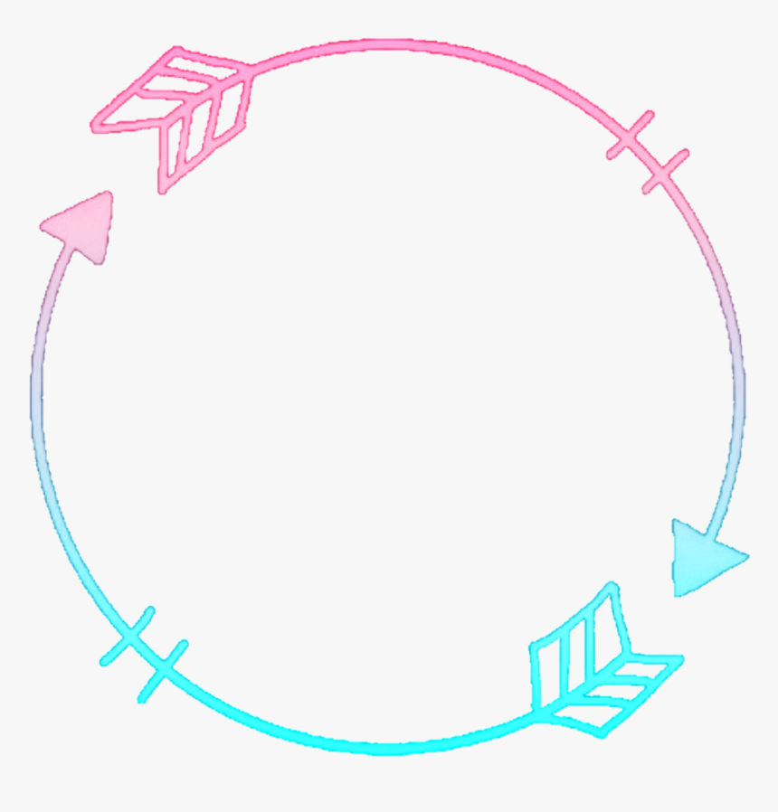 #icon #iconoverlay #iconos #arrow #round #circle #frame - Round Frame Icon Transparent Png, Png Download, Free Download
