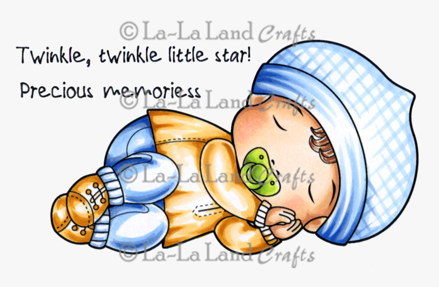 Sleeping Baby Luka Digi Stamp, HD Png Download, Free Download