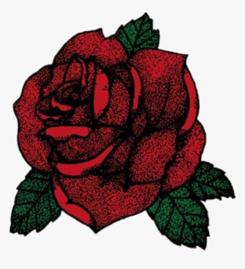 Rose Red Green Leaf Beautiful Aesthetic Tumblr Sticker Red Rose Sticker Hd Png Download Kindpng
