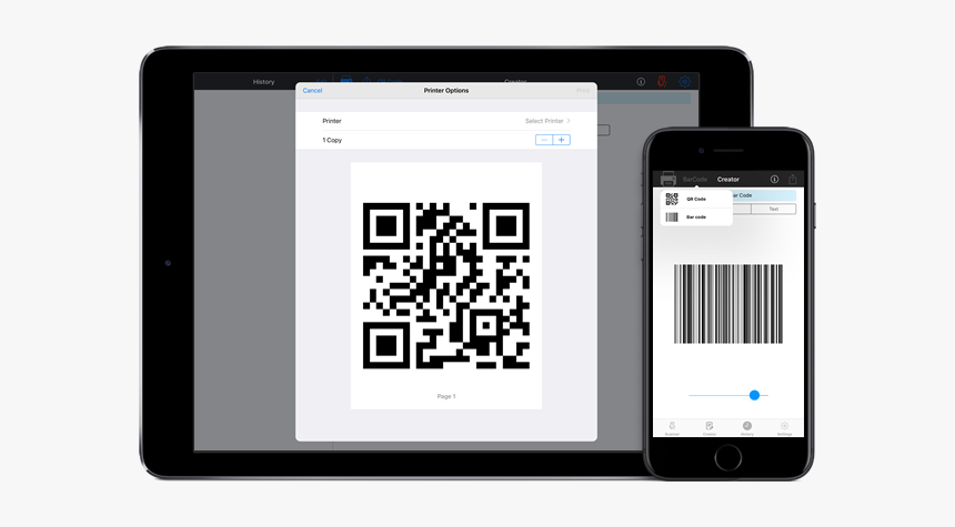 Qr Code Scanner,qr Code Reader - Ipad Bar Code, HD Png Download, Free Download