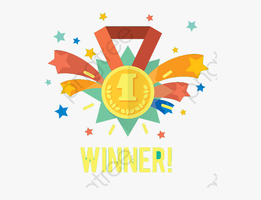 Medal Clipart Winner - Gold Stars White Background, HD Png Download, Free Download