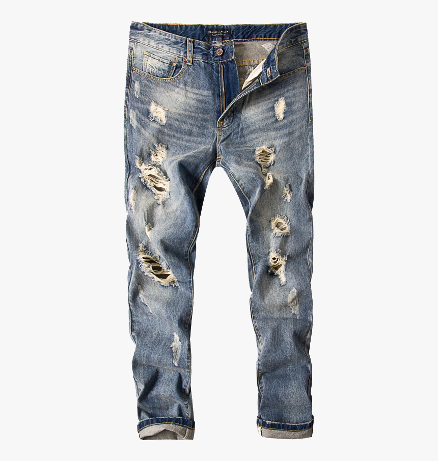 Jeans Rip Png - Men Ripped Jeans Png, Transparent Png, Free Download