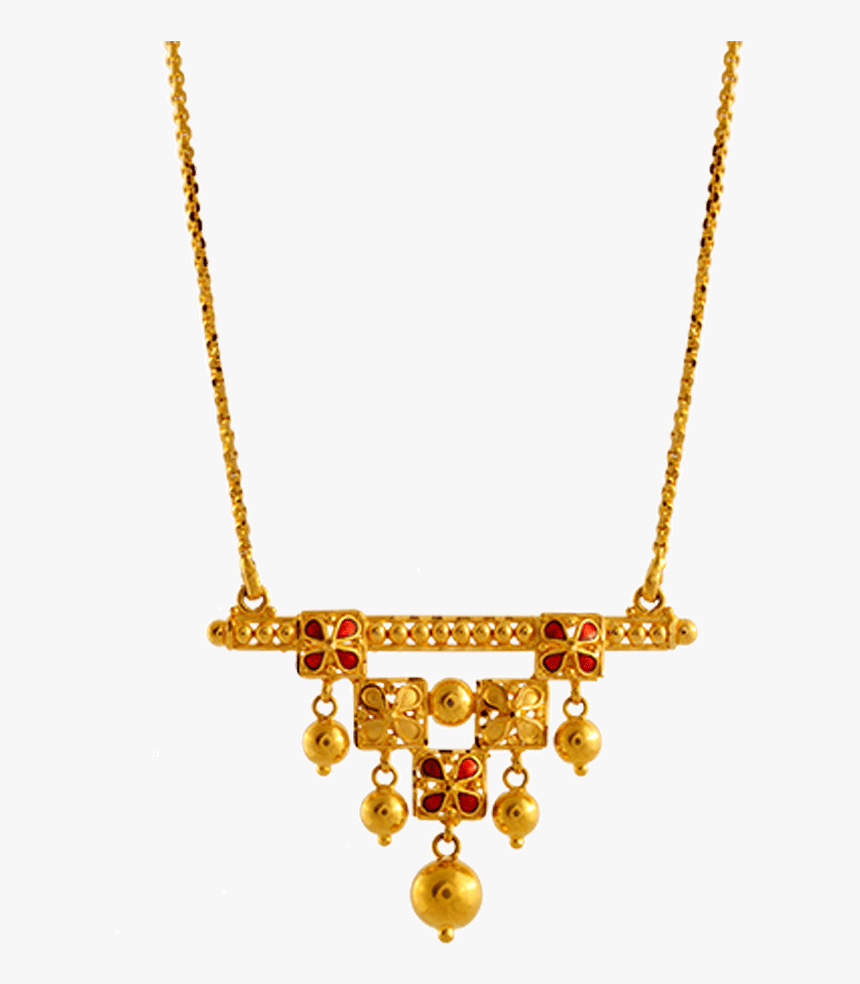 Chandra Jewellers 22k Yellow Gold Neckless - Necklace Gold Pc Chandra, HD Png Download, Free Download