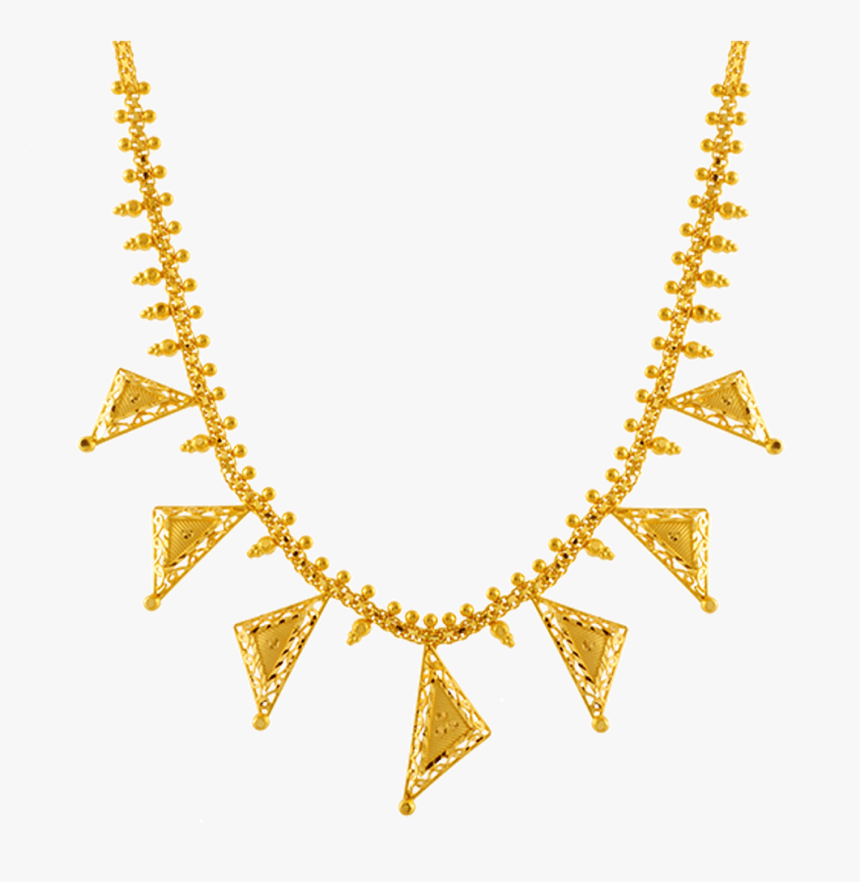 Chandra Jewellers 22k Yellow Gold Neckless - Choker Pc Chandra Necklace Collection, HD Png Download, Free Download