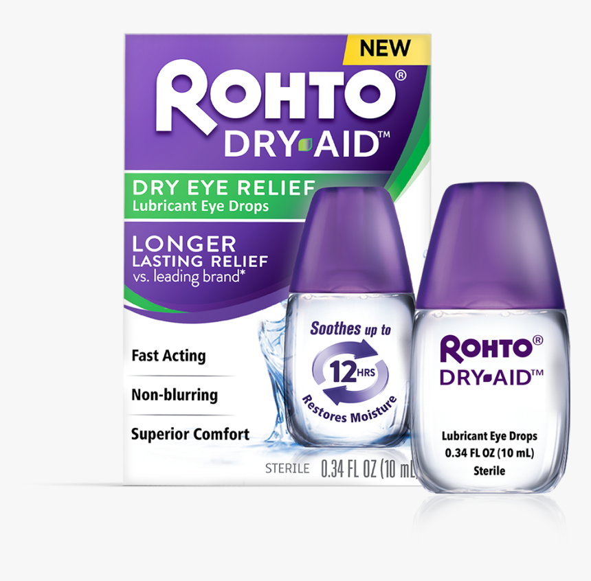 Rohto Dry Aid Eye Drops, HD Png Download, Free Download
