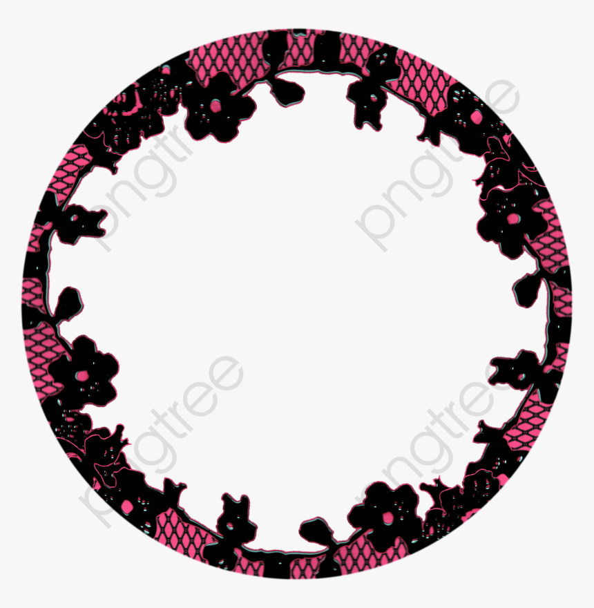 Red Clipart Transparent Category - Black Circle Png Frames, Png Download, Free Download