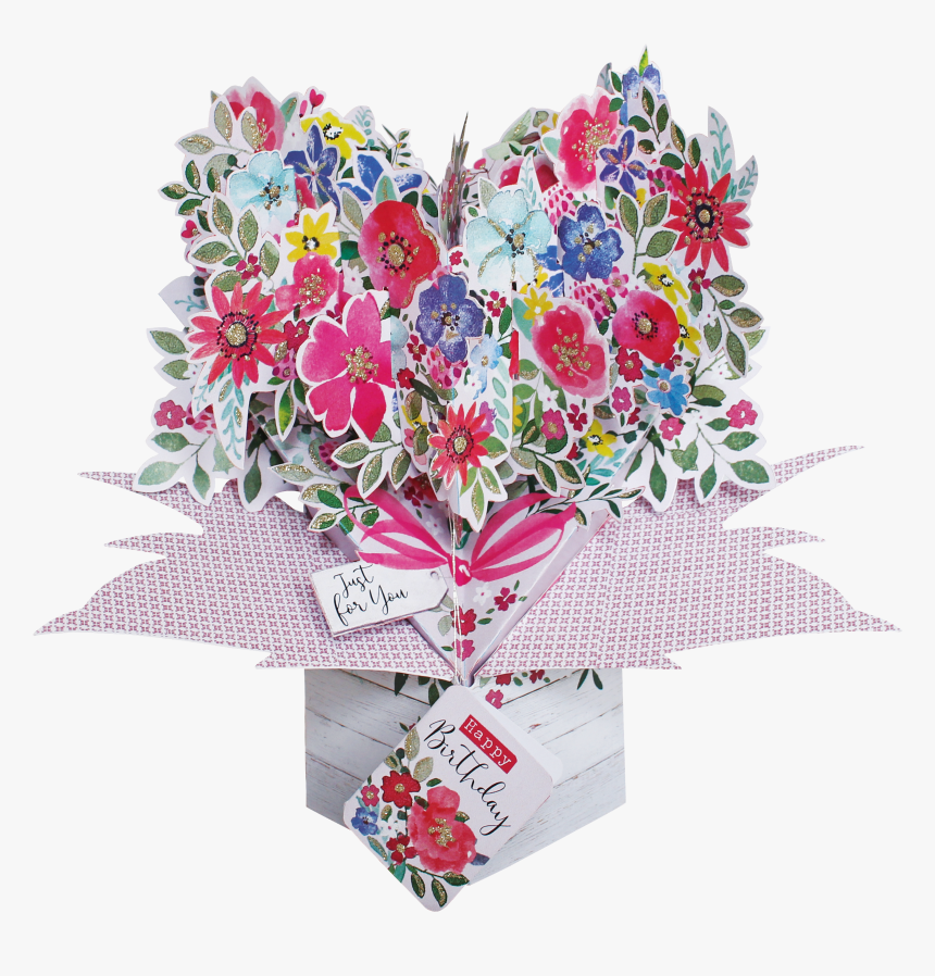 Flower Bouquet Birthday Cards, HD Png Download, Free Download