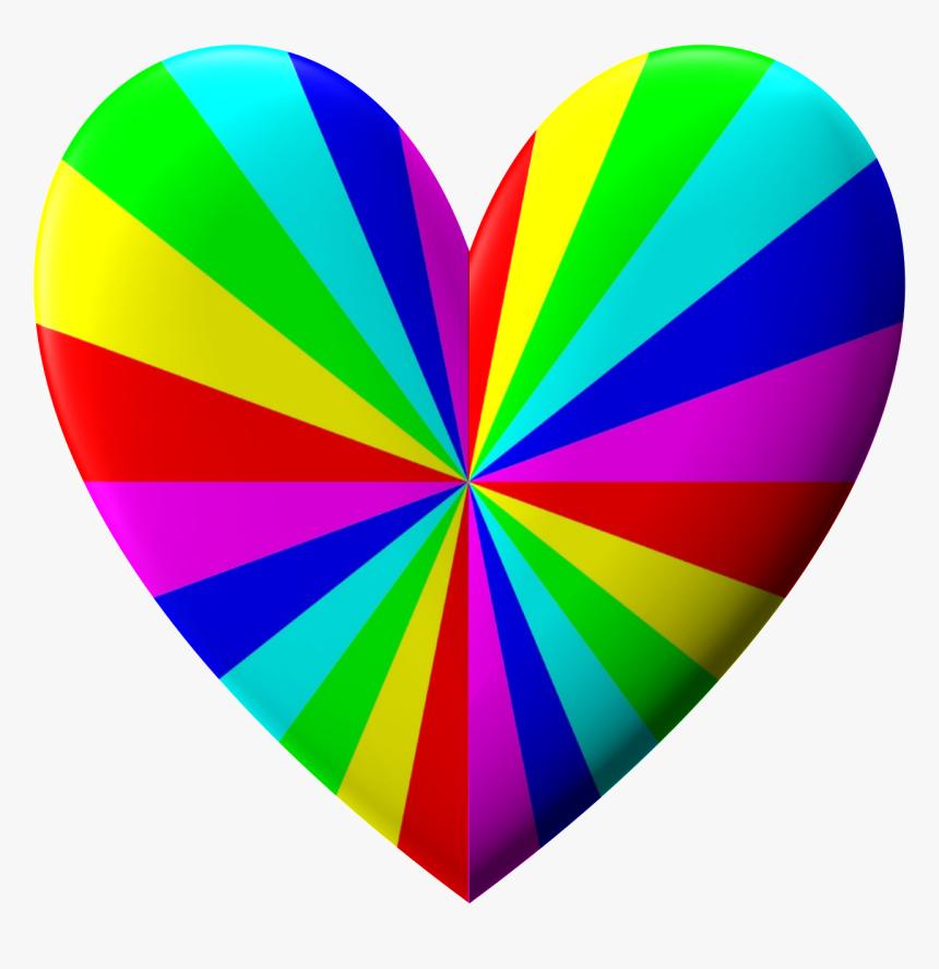 Coeur Arc En Ciel Hd Png Download Kindpng