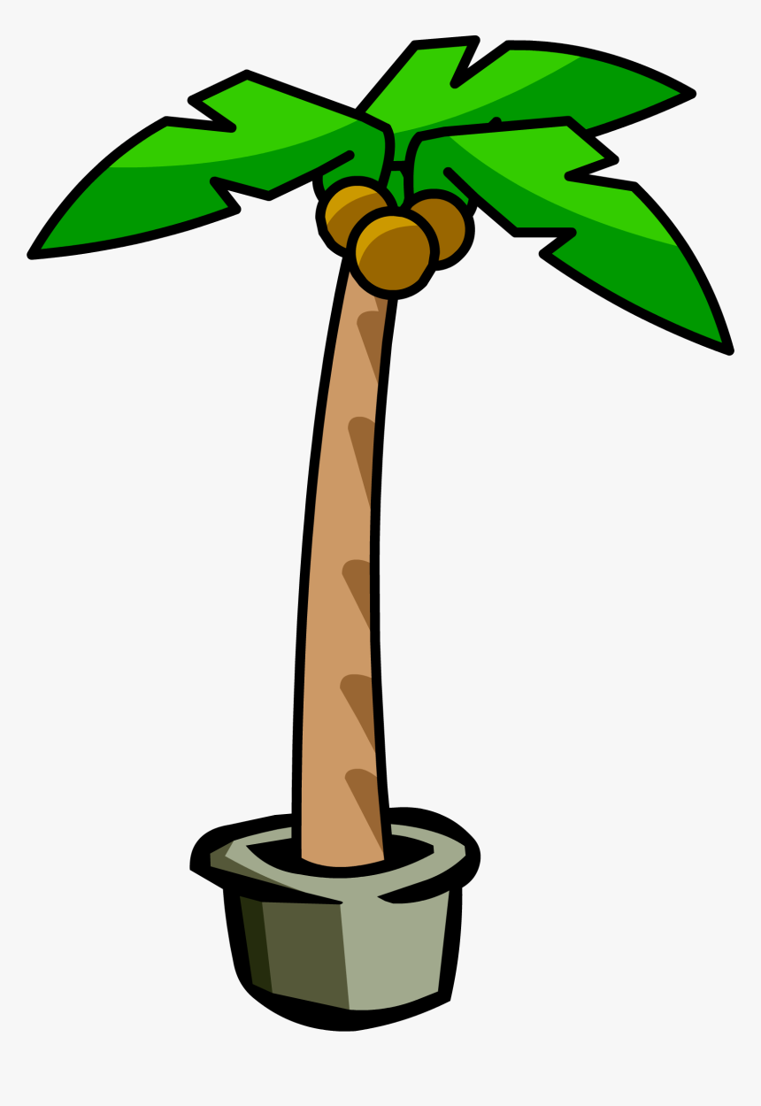 Club Penguin Palm Tree, HD Png Download, Free Download