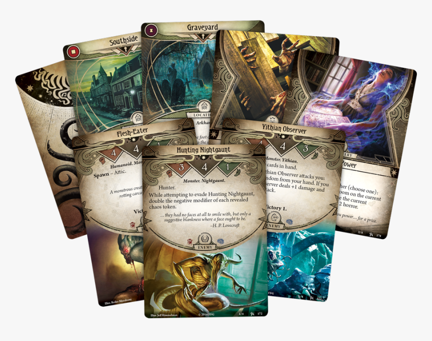 Transparent Hand Of Cards Png - Arkham Horror Cardgame, Png Download, Free Download
