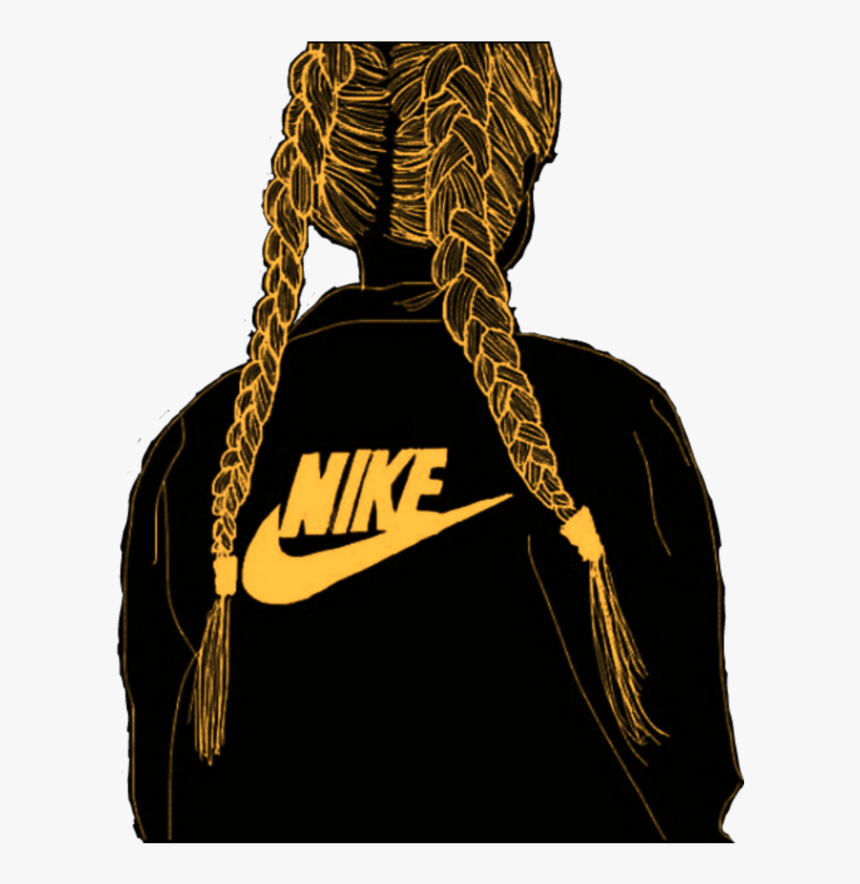 #freetoedit #remix #girl #nike #logo #orange - Transparent Blue Nike Logo, HD Png Download, Free Download