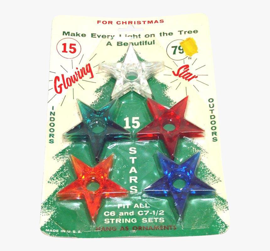 Vintage Christmas Light Stars, HD Png Download, Free Download