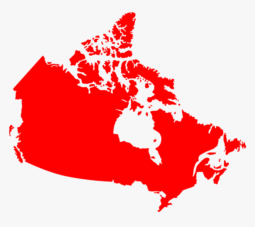 Canada Map Red Silhouette - Map Of Canada, HD Png Download, Free Download