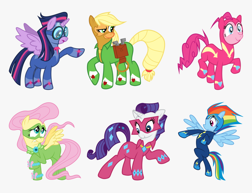 - Related Coloring Pages - My Little Pony Power Ponies Coloring Pages, HD Png  Download - Kindpng