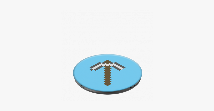 """Popsockets Minecraft Pick Axe """"  Title=""""popsockets - Emblem, HD Png Download, Free Download"""