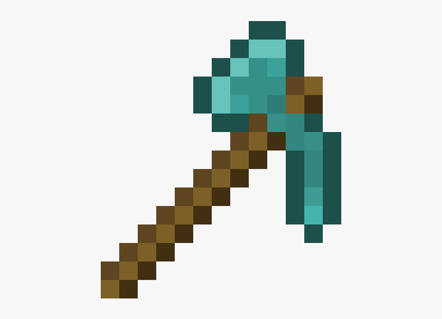 Minecraft Pickaxe Render, HD Png Download, Free Download