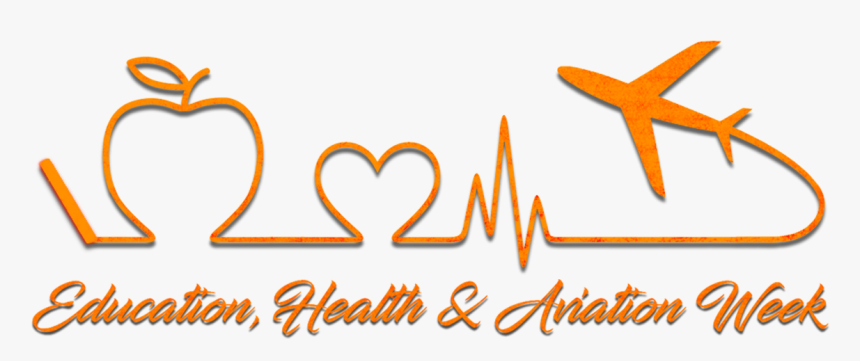 Education, Health, And Aviation Week Logo - Heart, HD Png Download, Free Download