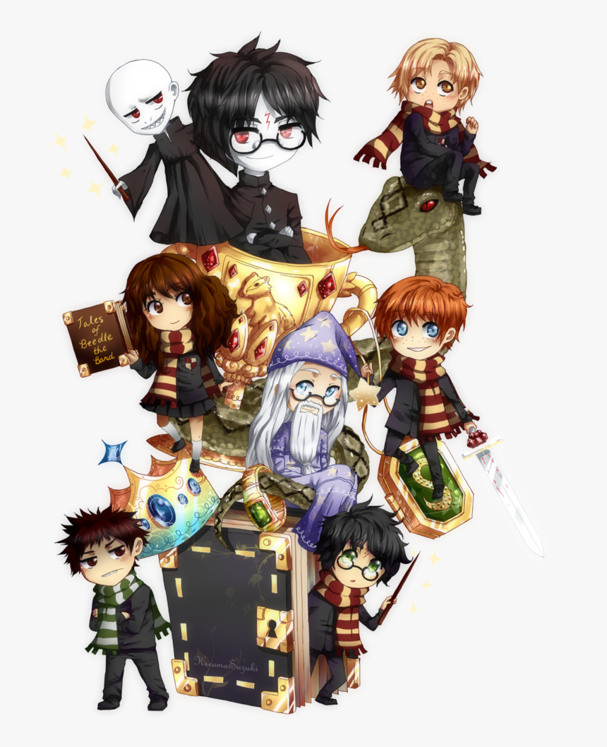all harry potter characters anime hd png download kindpng all harry potter characters anime hd