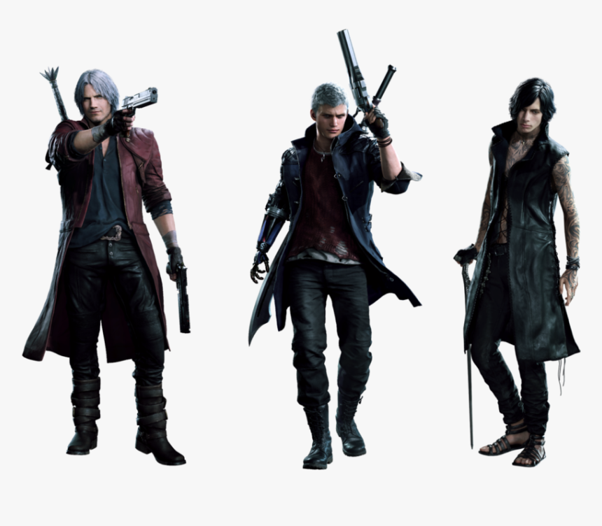 Dante Nero And V Devil May Cry Nero Cosplay Hd Png