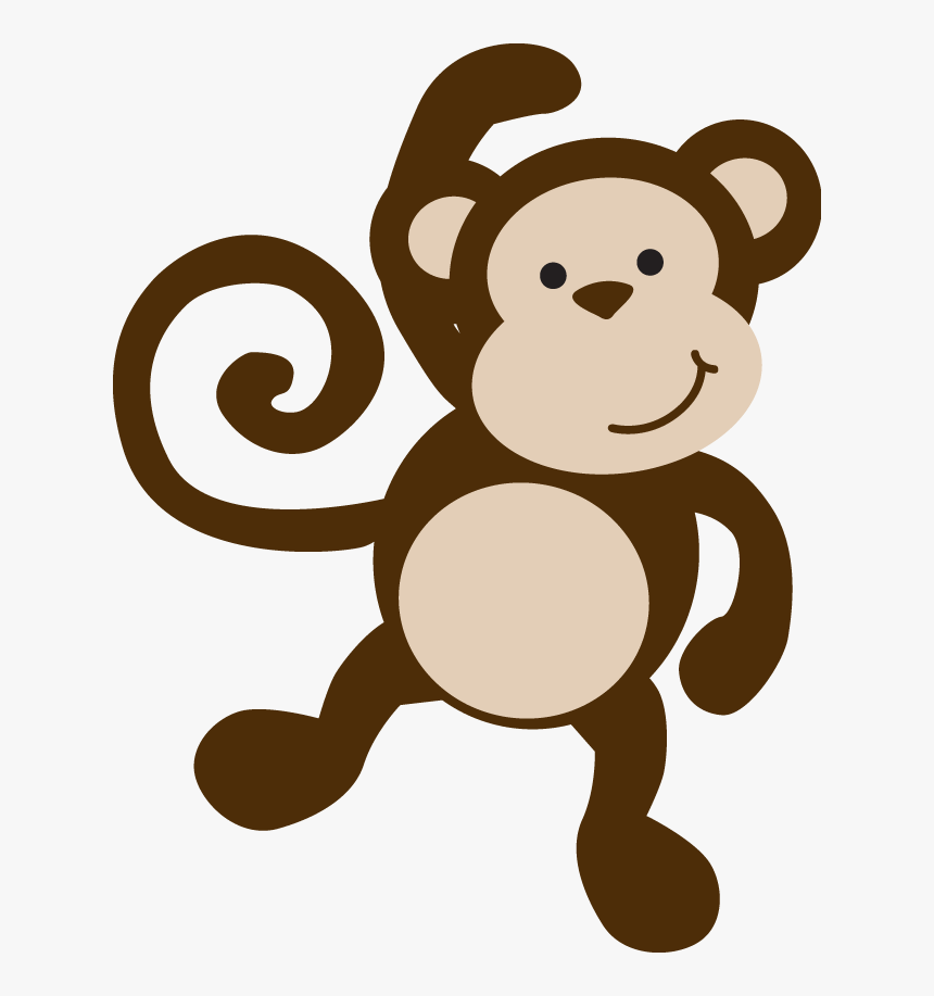 Transparent Hanging Monkey Clipart Black And White - Baby Safari Monkey, HD Png Download, Free Download