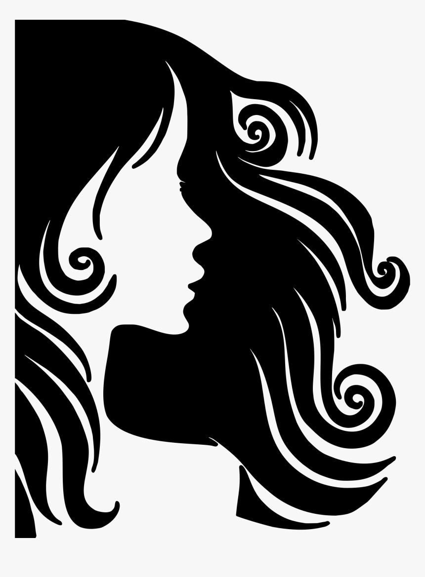 Female Hair Profile Silhouette Clip Arts Female Hair Silhouette Png Transparent Png Kindpng