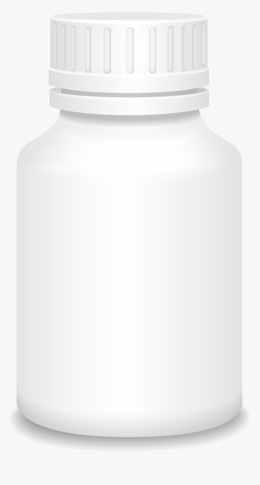 Medicine White Vector Bottle Plastic Png Download Free - Plastic Bottle, Transparent Png, Free Download