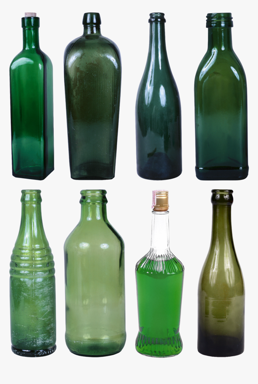 Glass Bottles Png, Transparent Png, Free Download