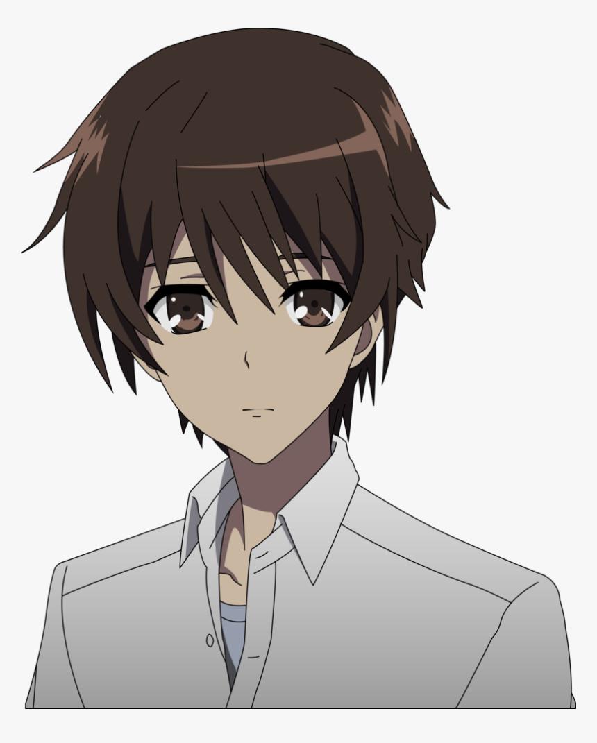 Animated Sad Boy Png Image - Anime Boy Brown Hair Brown Eyes, Transparent Png, Free Download