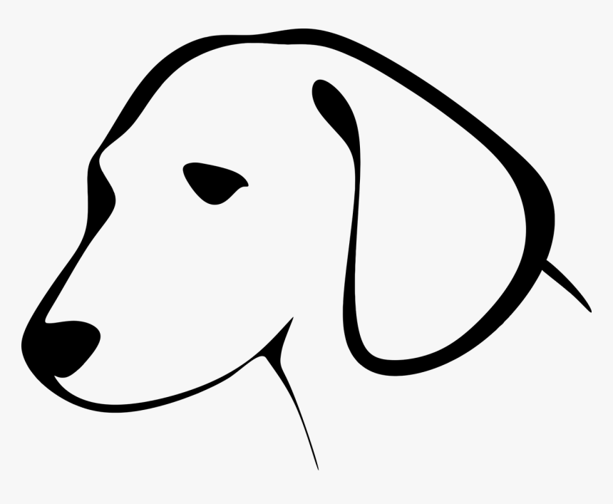 Transparent Dog Clipart Dog Head Clipart Black And White Hd Png