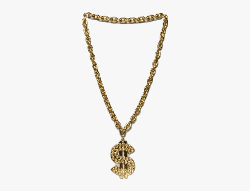 Thug Life Chain Dollar Sign Transparent Png - Gangster Gold Chain Png, Png Download, Free Download