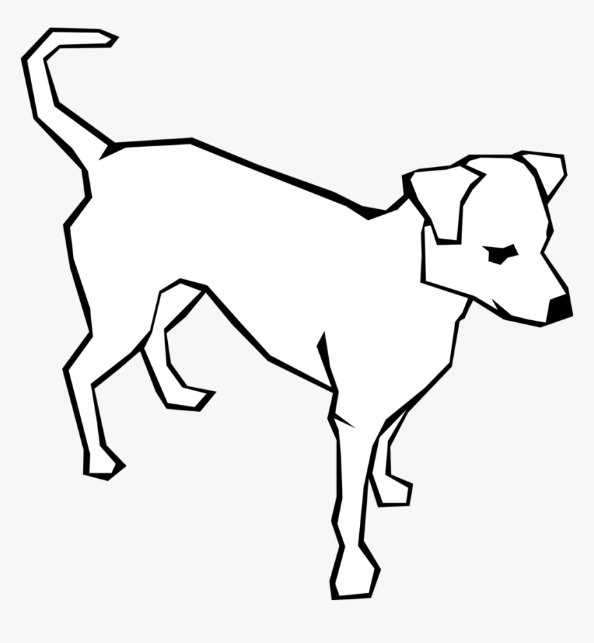 Dog Clipart Simple Public Dog Clipart Black And White Hd Png Download Kindpng