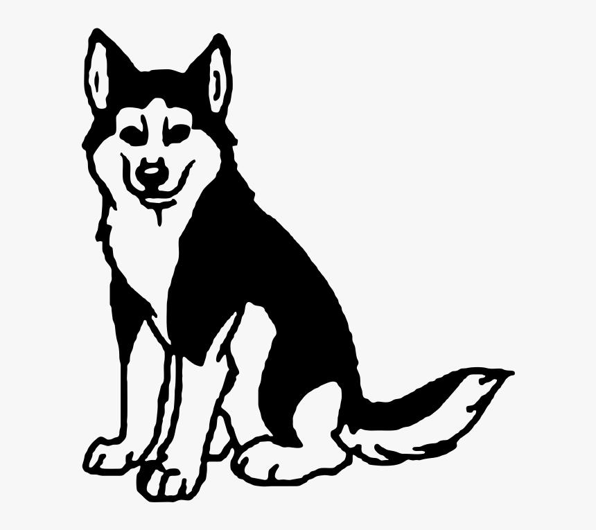Dog Clip Art Black and White
