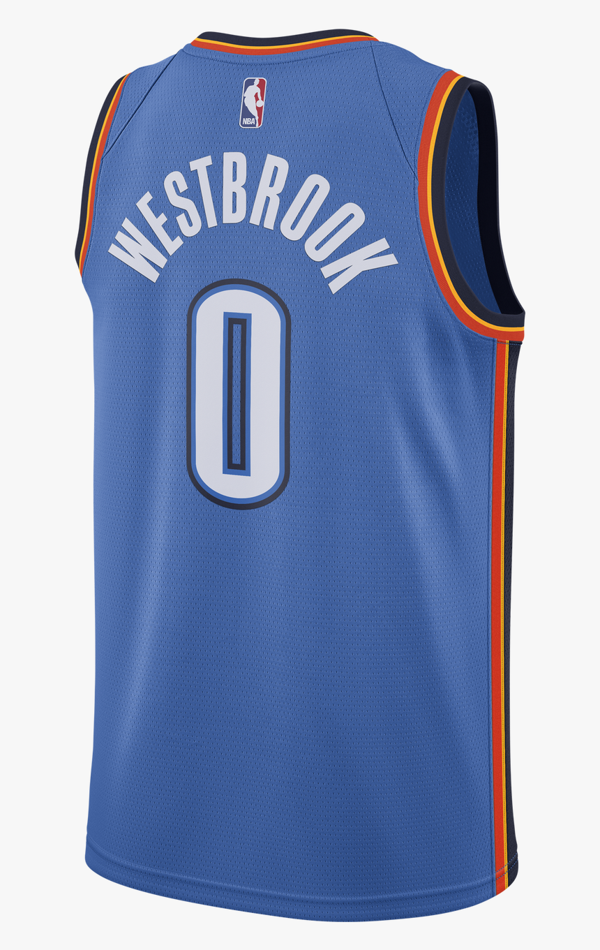 Oklahoma City Thunder Png Transparent Images - Russell Westbrook Thunder Jersey, Png Download, Free Download