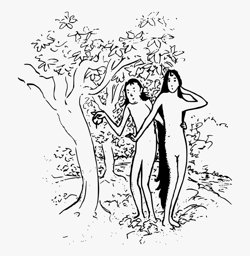 Adam And Eve Clipart Black And White, HD Png Download, Free Download