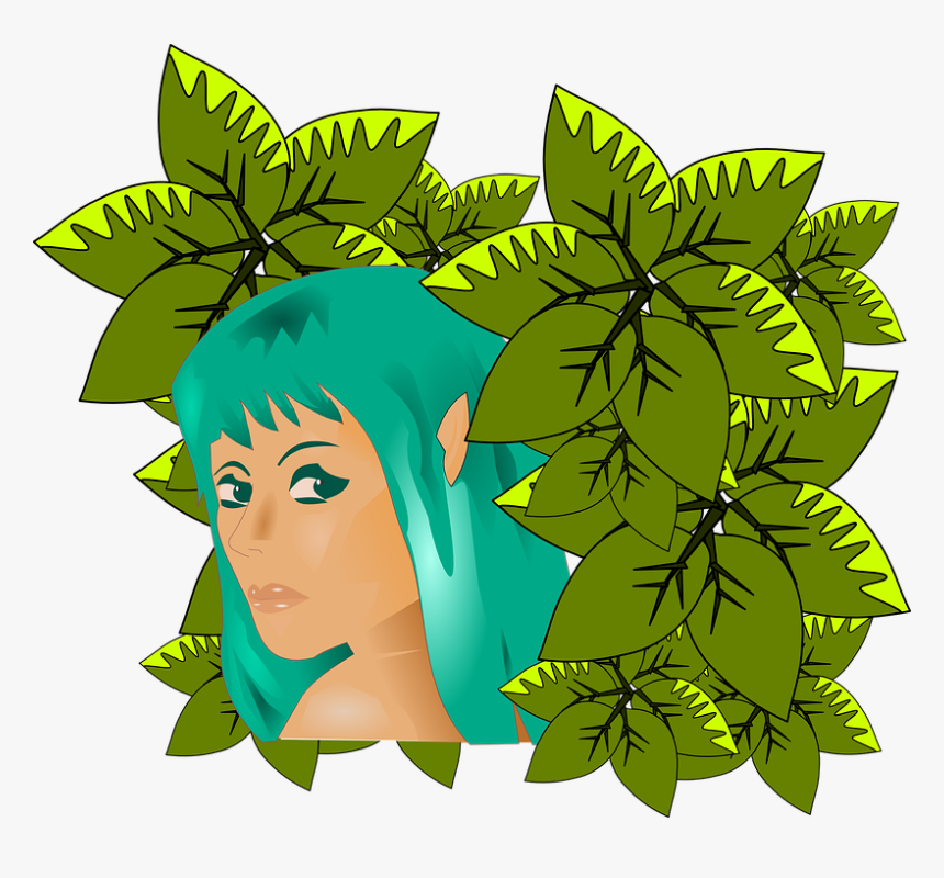 Woman, Girl, Turquoise, Leaves, Nature, Adam And Eve - Mujer Naturaleza Png, Transparent Png, Free Download