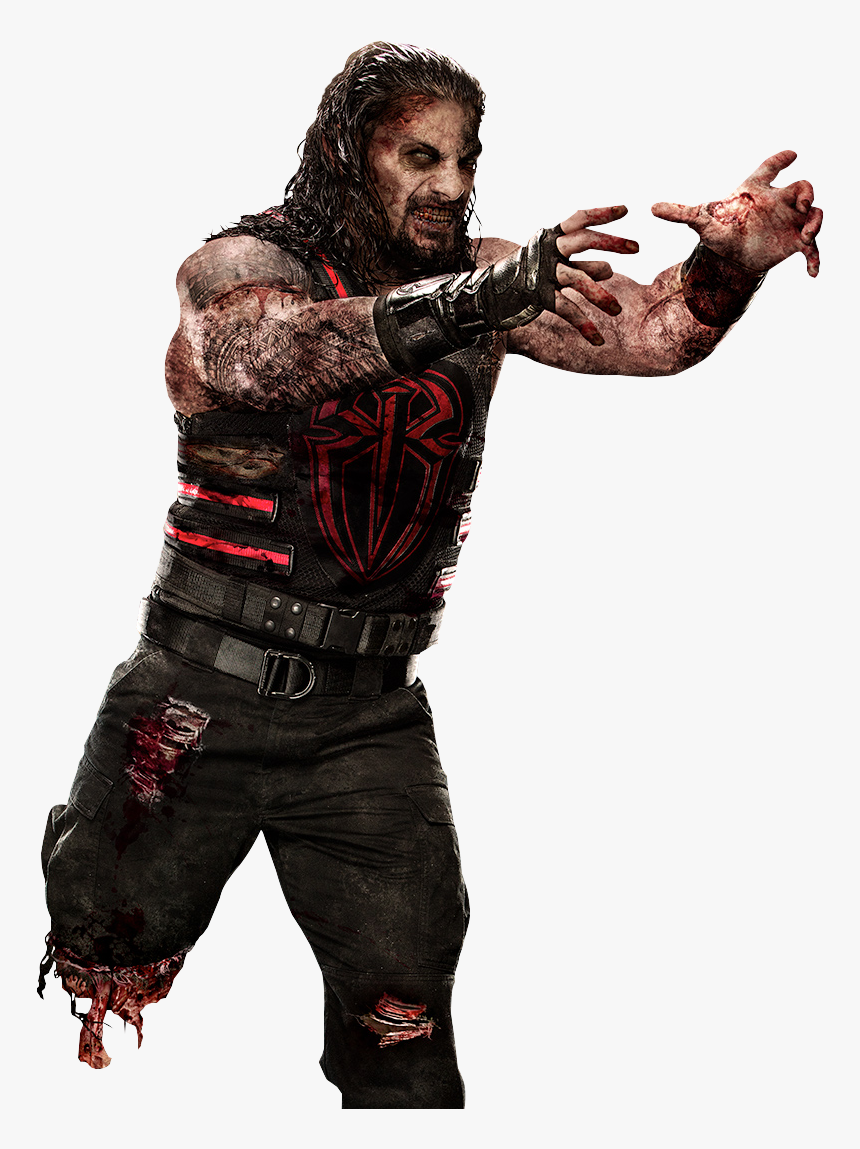 Fictional Character Zombie Roman Reigns John Cena Png - Wwe Roman Reigns Zombie, Transparent Png, Free Download